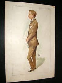 Vanity Fair Print 1912 Gustav Hamel, Aviator