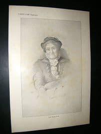 Vanity Fair Print: 1912 Lady Dorothy Nevill