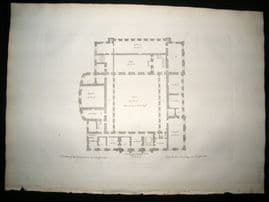 Vitruvius Britannicus C1720 Architectural Plan. 2nd Story, Chatsworth, Derbyshire