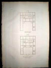Vitruvius Britannicus C1720 Architectural Plan. Althorp, Northamptonshire
