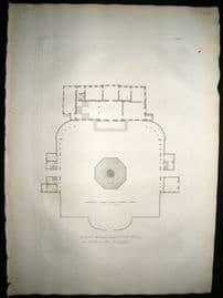 Vitruvius Britannicus C1720 Architectural Plan. Buckingham House Palace, London