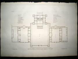 Vitruvius Britannicus C1720 Architectural Plan. Eastbury, Blandford, Dorsetshire