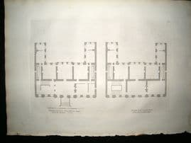 Vitruvius Britannicus C1720 Architectural Plan. First Story, Powis House