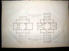 Vitruvius Britannicus C1720 Architectural Plan. Foots Cray, Kent