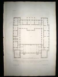 Vitruvius Britannicus C1720 Architectural Plan. Grimthorp, Lincoln