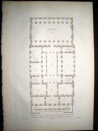 Vitruvius Britannicus C1720 Architectural Plan. Mansion House, London