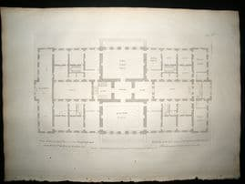Vitruvius Britannicus C1720 Architectural Plan. New design for the Earl of Halifax