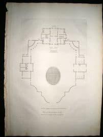 Vitruvius Britannicus C1720 Architectural Plan. Roehampton House, London