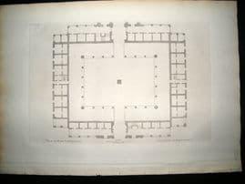 Vitruvius Britannicus C1720 Architectural Plan. Royal Exchange, London