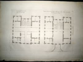 Vitruvius Britannicus C1720 Architectural Plan. Walter Yonge House, Devonshire