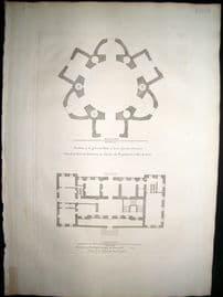 Vitruvius Britannicus C1720 Architecture Plan Burlington House Piccadilly London