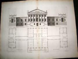 Vitruvius Britannicus C1720 LG Architecture Print. New design for Robert Walpole