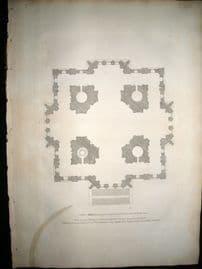Vitruvius Britannicus C1720  Plan. Design of a Church for Lincoln's Inn Fields