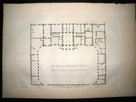 Vitruvius Britannicus C1720 Plan. Duke of Devonshire House, Piccadilly