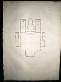Vitruvius Britannicus C1720 Plan. Marlborough House, St. James, London