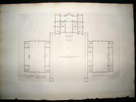 Vitruvius Britannicus C1720 Plan. New design for a Person of Quality, Dorset