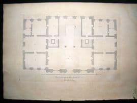Vitruvius Britannicus C1720 Plan. New design for Tobiass Jenkins, Yorkshire