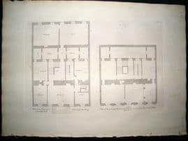 Vitruvius Britannicus C1720 Plan. Parlor Floor, Lindsey House, Chelsea London