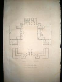 Vitruvius Britannicus C1720 Plan. Plan of Lord Leimpster House, Northampton