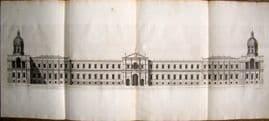 Vitruvius Britannicus C1720 QUAD Architectural. Palace of Whitehall, Inigo Jones