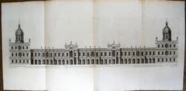 Vitruvius Britannicus C1720 QUAD Architectural. Whitehall Palace, Inigo Jones