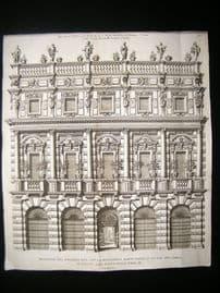 Volckamer 1708 LG Folio Architectural Print. Verona Building Profile, Italy