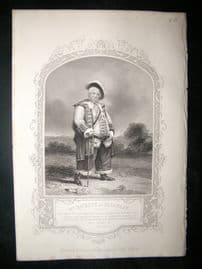 Works of Shakespere 1850 Steel Engraving. Mr Hackett As Falstoff