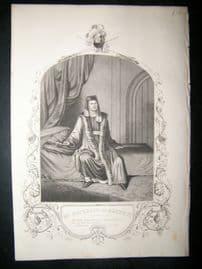 Works of Shakespere 1850 Steel Engraving. Mr Macready As Henry IV