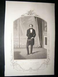 Works of Shakespere 1850 Steel Engraving. Mr W.C Macready