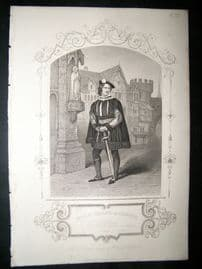 Works of Shakespere 1850 Steel Engraving. Mr.J.W Wallack As Gloster