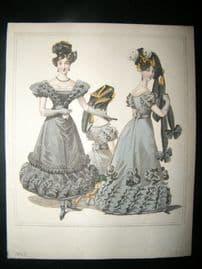 World of Fashion 1826 Hand Col Regency Fashion Print 01