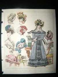 World of Fashion 1827 Hand Col Fashion Print 02