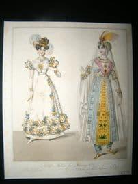 World of Fashion 1828 Hand Col Fashion Print 04. Persian Costume
