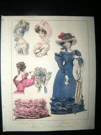 World of Fashion 1828 Hand Col Fashion Print 05