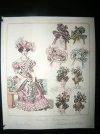 World of Fashion 1828 Hand Col Fashion Print 06