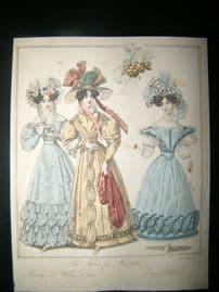 World of Fashion 1828 Hand Col Fashion Print 07