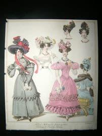 World of Fashion 1829 Hand Col Fashion Print 08