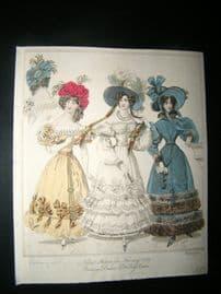World of Fashion 1829 Hand Col Fashion Print 09