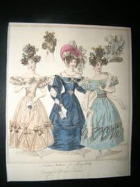 World of Fashion 1829 Hand Col Fashion Print 11
