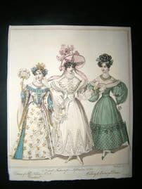 World of Fashion 1829 Hand Col Fashion Print 12