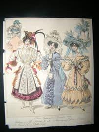 World of Fashion 1829 Hand Col Fashion Print 13