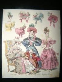 World of Fashion 1832 Hand Col Fashion Print 14