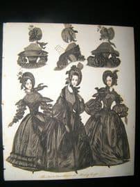 World of Fashion 1837 Hand Col Fashion Print 16