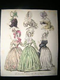 World of Fashion 1837 Hand Col Fashion Print 18