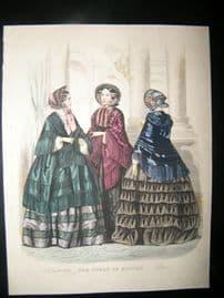 World of Fashion 1852 Hand Col Fashion Print 19