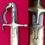 * * A Fantastic Silver mounted 19th C. Ottoman Shamshir  with original silver scabbard. Ref 9006.