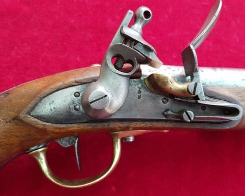 A good officer's flintlock military pistol dating from the Napoleonic era. Dated 1812. Ref 2728