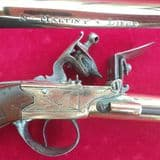 A rare all brass Napoleonic period Naval Flintlock Blunderbuss Officer's pistol. C.1790. Ref 1857