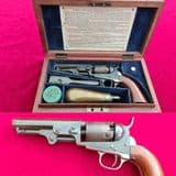A  rare Cased Colt model 1849 pocket .31 percussion revolver with original finish. C1850. Ref 3043