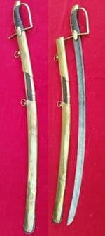 A rare Napoleonic era brass mountedDragoon sword circa 1780-90. Good condition. Ref 2170